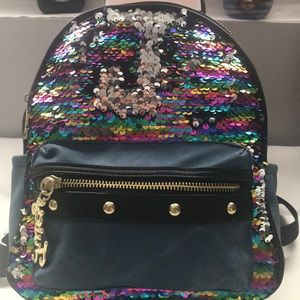 Juicy couture disco denim backpack.